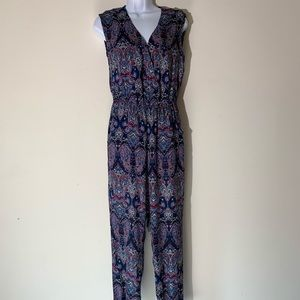 Full length paisley jumpsuit